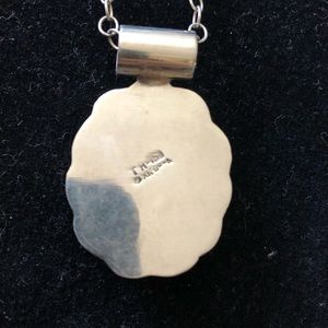 Taxco sterling silver chain and pendent